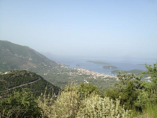 Get Active Biking Tours: The view over the island before the descent.