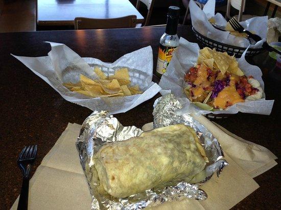 Zia Taqueria: Carne Asada Burrito & Baja Fish Tacos