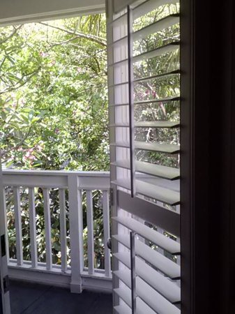 The Paradise Inn: door to porch frm room