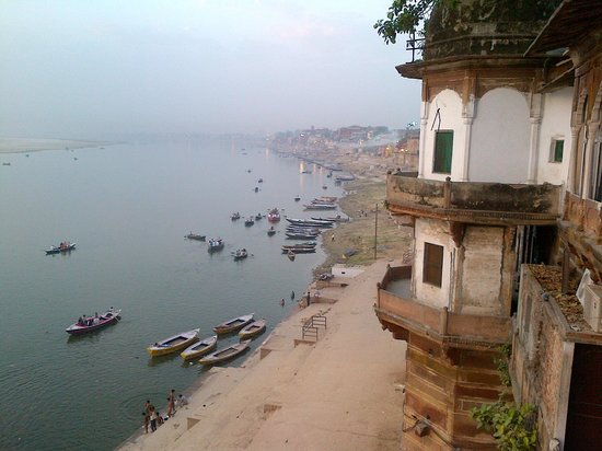 Palace on Steps: Ganges from the room