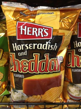 Herr's Snack Factory Tour: Horseradish and Cheddar
