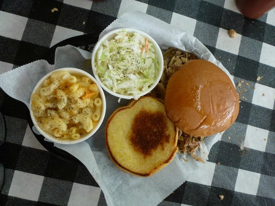 OUTBAK BBQ Shack: Pulled Pork Sandwich Platter with slaw and potato salad