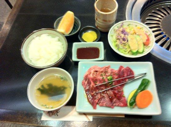 Nikunoyamamoto: Niku no Yamamoto Yakiniku Lunch 1050 yen - recommend steak lunch instead