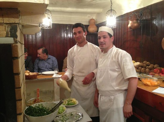 """Restaurant Le Tyrolien: The """"grill chef"""" and his assistant"""