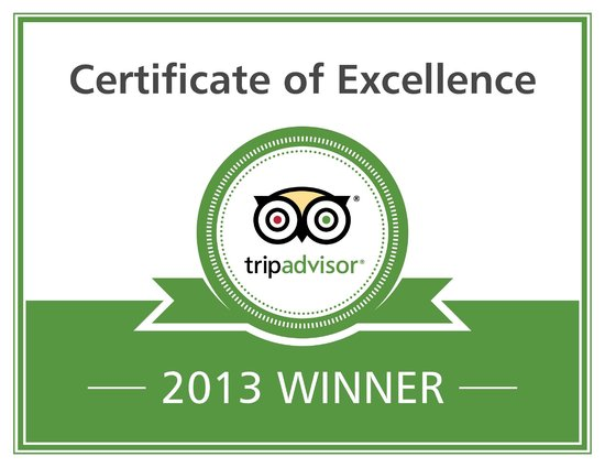 Yardley Manor Hotel: Certificate of Excellence 2013