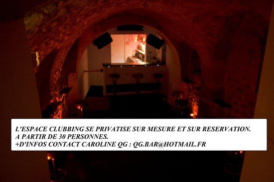 QG.BAR.Odeon : PRIVATISATION DE L'ESPACE CLUBBING SUR RESERVATION