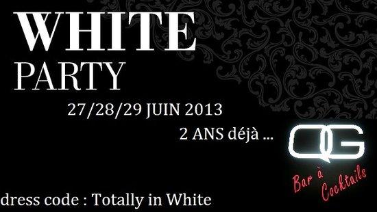 QG.BAR.Odeon : 27/28/29 JUIN 2013 WHITE PARTY