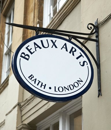 Beaux Arts Gallery: The gallery sign