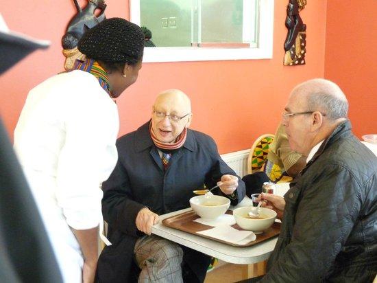 The Rt. Hon. Sir Gerald Kaufman, MP at Jollof Cafe