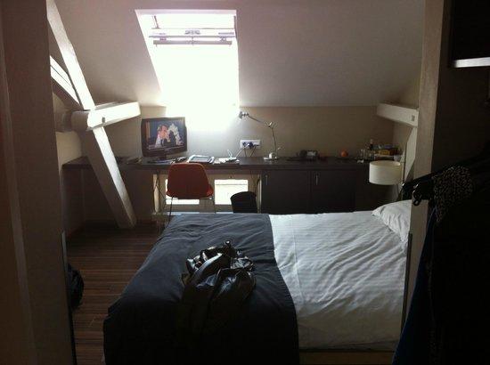 Altstadt Hotel: Top floor room with skylight