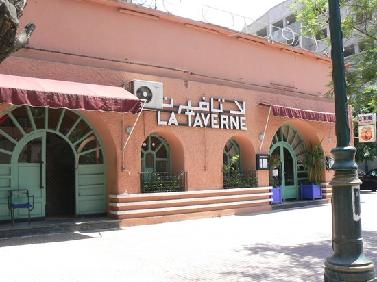 La Taverne: entrance to the garden is to the left.