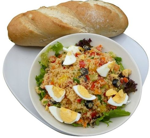 Jollof Cafe: Couscous Salad With Bread