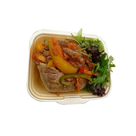 Jollof Cafe: Jacket Potato With Safari Beef