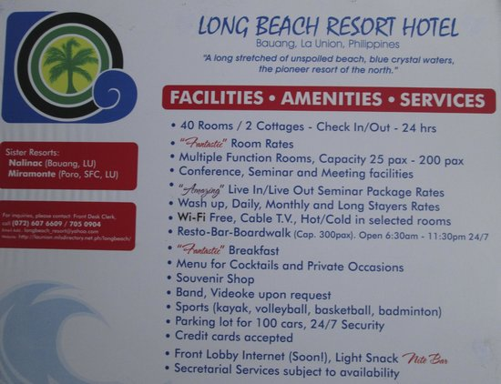 Our Facilities And Amenities Hotel Infos Picture Of