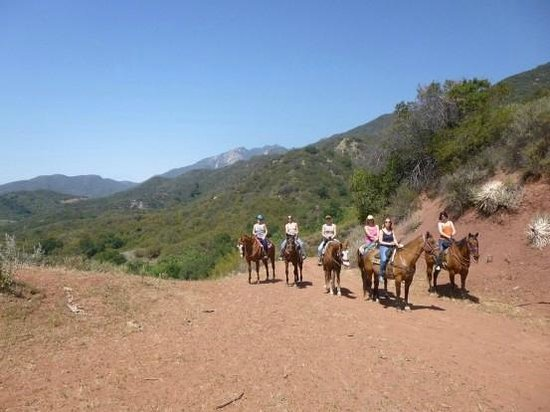 Ojai Valley Trail Riding Company : Stopping for a photo...