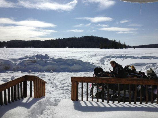 Spectacle Lake Lodge: Snowmobile Heaven