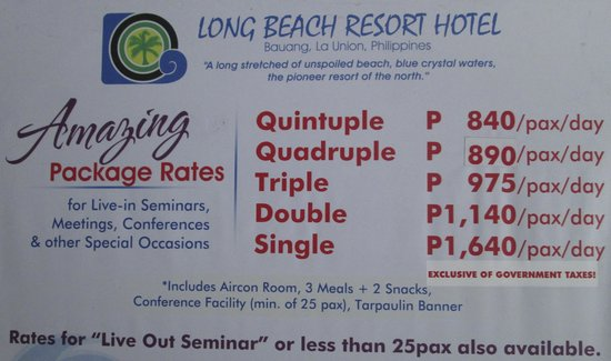 Long Beach Resort Hotel La Union S Most Amazing Get Away Package