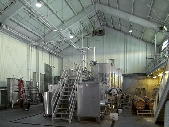 RagApple Lassie Vineyards: The stainless steel wine vats