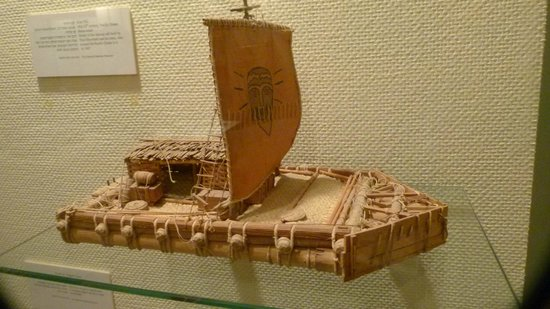 National Maritime Museum : The Kontiki Raft crossed the Pacific, 1947 with Thod Heyerdahl
