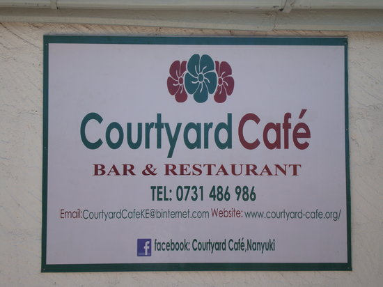 The Courtyard Cafe: Sign