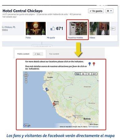 Hotel Central Chiclayo : Facebook del HCCix