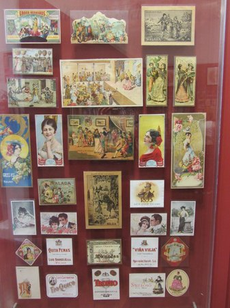 Museo del Vino Malaga : A selection of colourful wine labels.