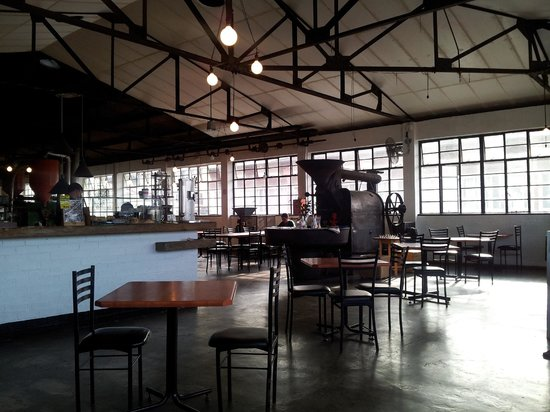 The Factory Cafe: View of the Cafe this morning