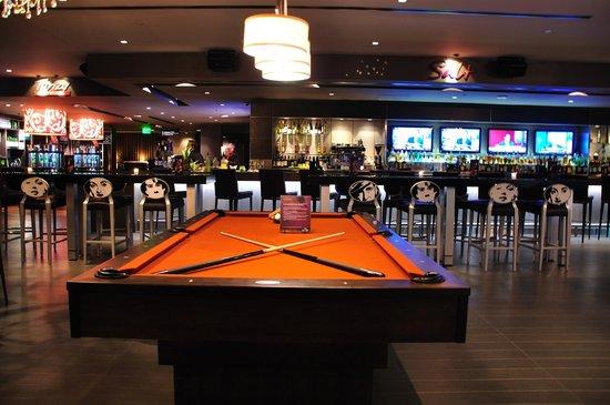 pool table - picture of ipic theaters, austin - tripadvisor