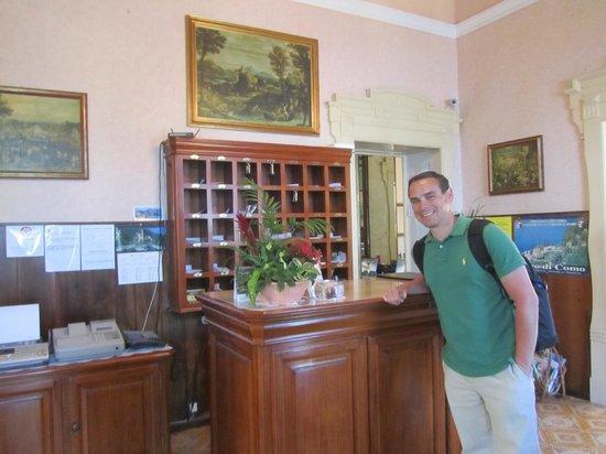 The front desk. - Picture of Hotel Villa Marie, Tremezzina - TripAdvisor