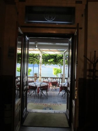Looking out Hotel Front Entrance onto Terrace - Picture of Hotel ...