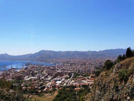 Monte Pellegrino: Sequenza di Panorama sul Golfo di Palermo.