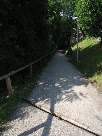 Hotel Wittelsbach: trail from trainstation up the hill to hotel ~ 10 minutes
