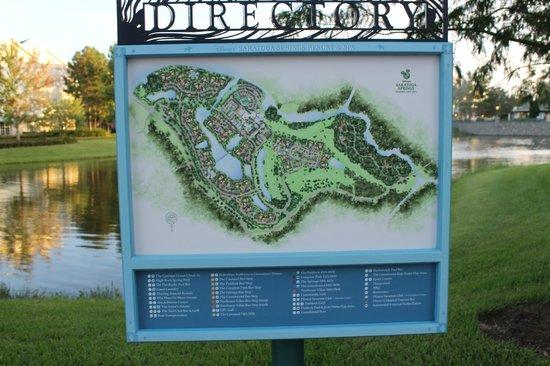 Resort map! :D - Picture of Disney\'s Saratoga Springs Resort & Spa ...