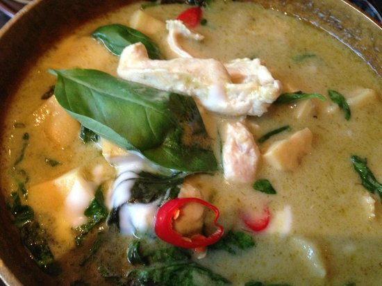Patara Fine Thai Restaurant - Oxford Circus: Green curry with basil & chicken (Extremely HOT warning)