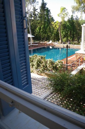 Metohi Georgila : Bedroom view over pool