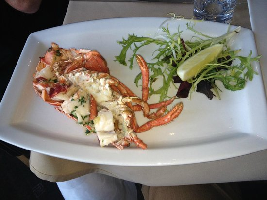Portofino: Lobster as a side dish - with garlic butter - highly recommended