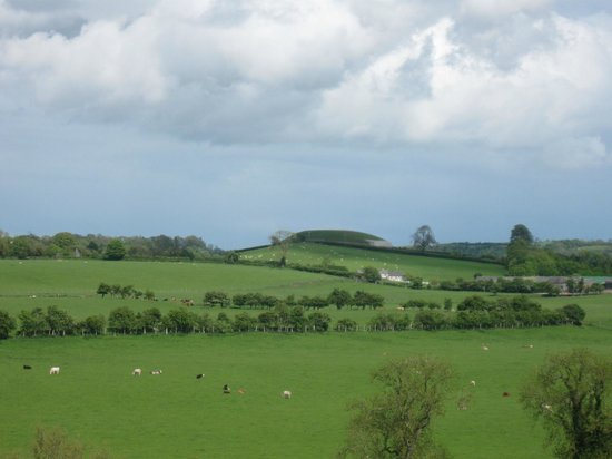 Rossnaree: The View of Newgrange from Our Room