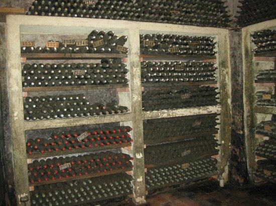 Badia a Coltibuono : one wall of owner's cellar