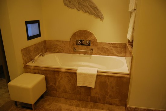 Augustine, a Luxury Collection Hotel, Prague: Bañera con tele.