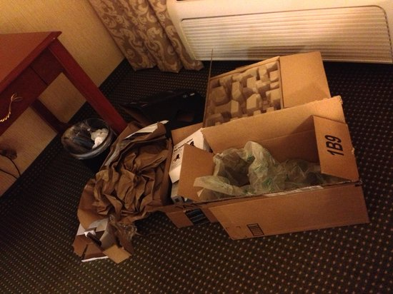 Hilton Garden Inn San Jose/Milpitas : My apologies to housekeeping.
