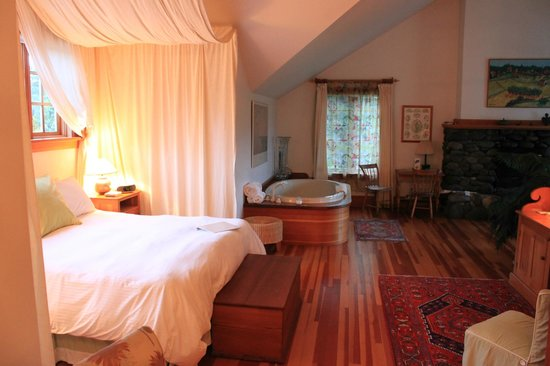One of the rooms at the Sooke Harbour House