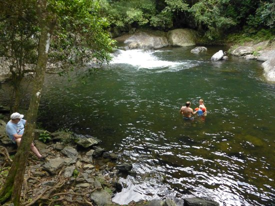 Heritage Lodge & Spa: swimming in the waterhole in the hotel grounds