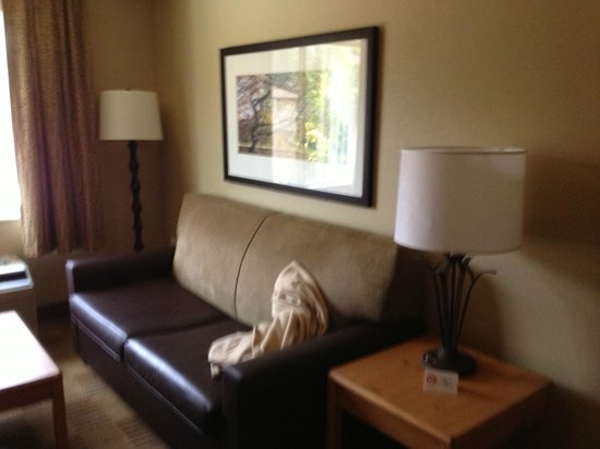 Extended Stay America - Washington, D.C. - Fairfax: a leather sofa