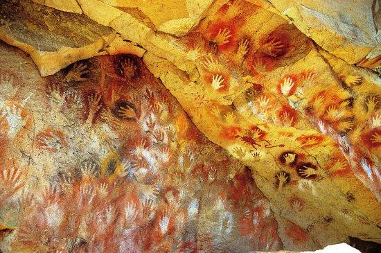 Los Antiguos, Argentyna: Cueva de las Manos Trek: alero de arte rupestre