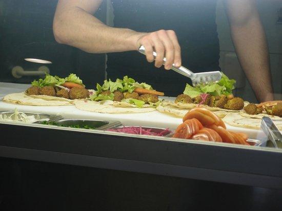 Falafel: Preparing food for an advertisement