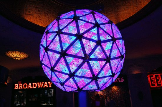 Times Square Museum and Visitor Center: 2012 NYE Ball on Display at TS museum. It flashes all LED's! Cool!
