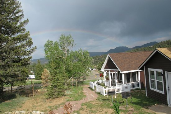 River Rock Cottages : Rainbow!