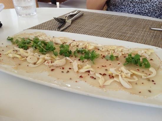 Fisher Island Hotel & Resort: swordfish carpaccio is delicious