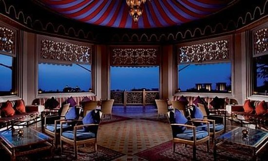 The wide terrace with a 180 degree views on the madinat for 180 degrees salon dubai