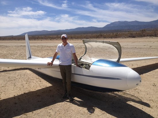 Southern California Soaring Academy: Our pilot and plane - post ride.